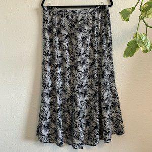 Christopher & Banks Skirts - Plus Size Christopher & Banks Floral Midi Skirt